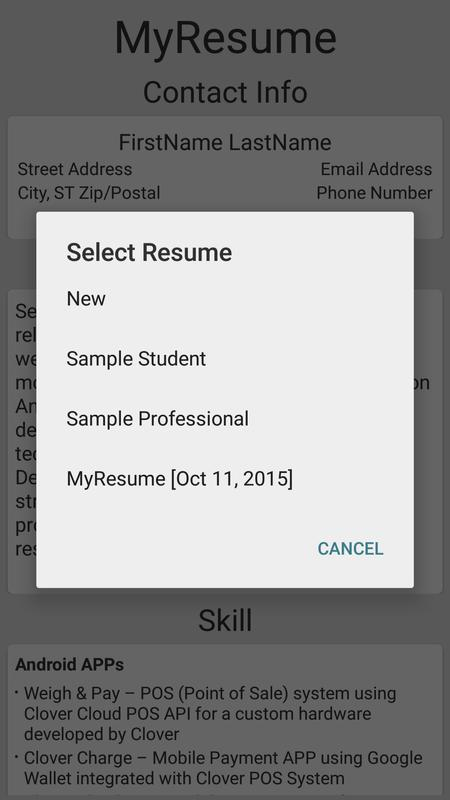 simple resume builder apk download free education app for android