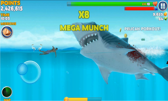 shark evolution mod apk tapps