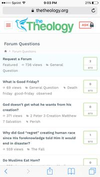 Christian Forums - The Theology Forum poster