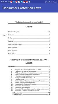 Consumer Protection Laws Pakistan poster