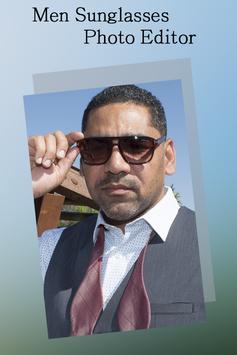 Men Sunglasses Photo Editor poster
