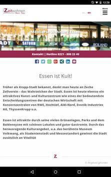 Zeitwohnen Rhein Ruhr apk screenshot