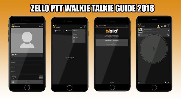 New Zello PTT Walkie Talkie Guide 2018 poster