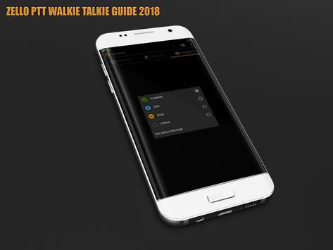 New Zello PTT Walkie Talkie Guide 2018 apk screenshot