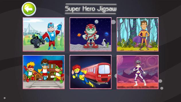 Super Hero Jigsaw Puzzle Game For kids screenshot 1