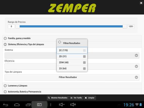 Tarifa de Precios Zemper apk screenshot