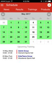 OBA Badminton App poster