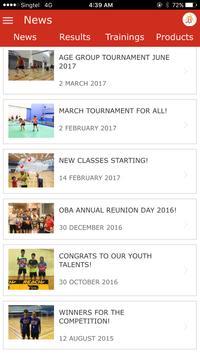 OBA Badminton App apk screenshot