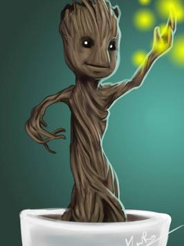 Baby Groot Lovely wallpapers poster