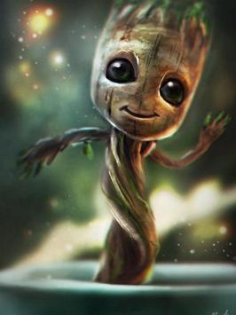 Baby Groot Lovely wallpapers screenshot 1