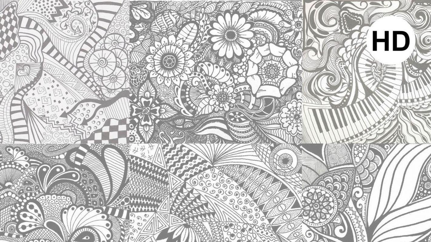 ... Zentangle Art Wallpaper स्क्रीनशॉट 3