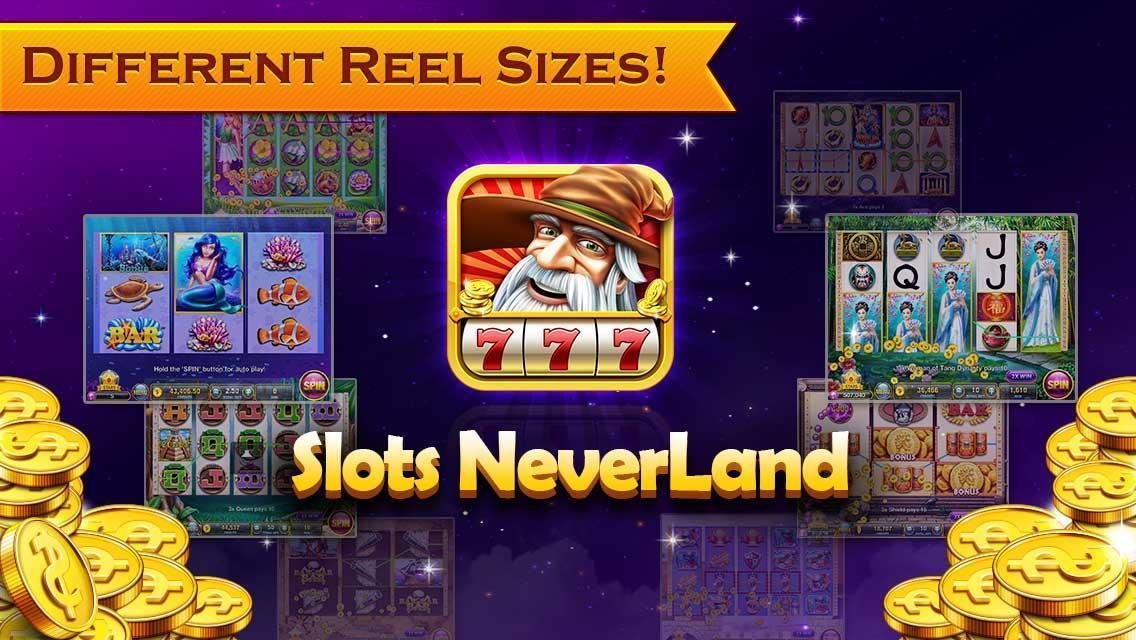 Slots Neverland: slot machines poster