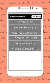 German Short Stories Deutsche Kurzgeschichten poster