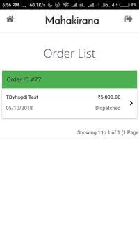 Mahakirana Delivery screenshot 2