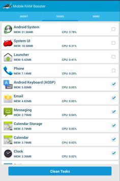 Mobile RAM Booster apk screenshot