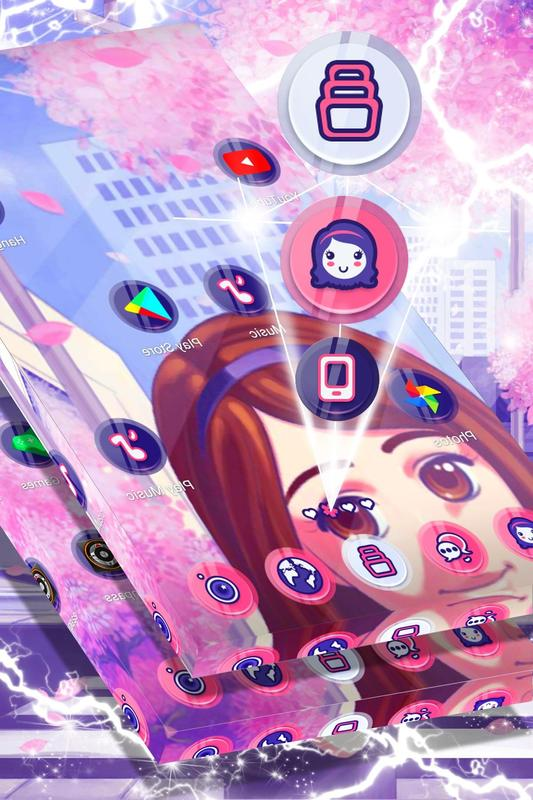 anime girl launcher theme for android apk download