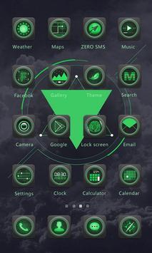 Black and Green- ZERO Launcher apk screenshot