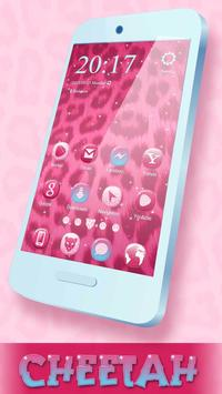 Pink Cheetah Theme for Launcher poster