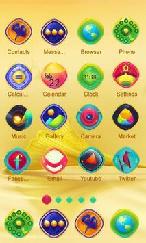 Golden Flower Launcher apk screenshot