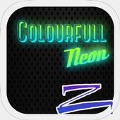 Colorful Neon Zero Launcher icon