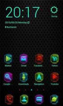 Colorful Neon Zero Launcher poster