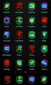 Colorful Neon Zero Launcher apk screenshot