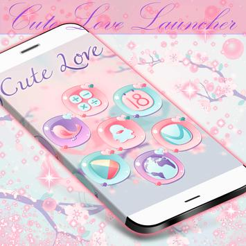 Cute Pastel Launcher Theme poster