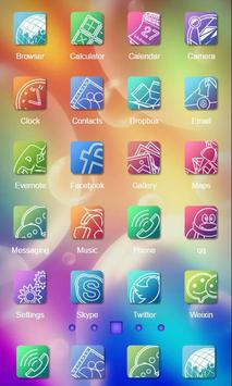 Flat Design Launcher Theme apk screenshot