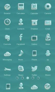 Crystal Glass Launcher Theme apk screenshot