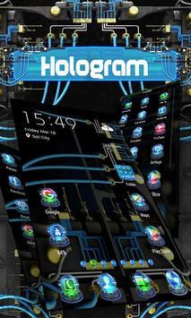 Hologram ZERO Launcher apk screenshot