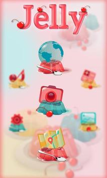 Cute Jelly Launcher Theme poster