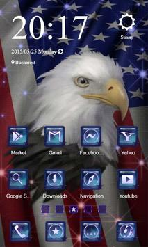 Freedom Eagle Launcher Theme poster