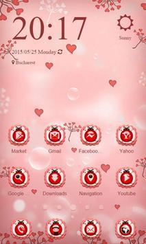 Pink Ladybug Launcher Theme poster