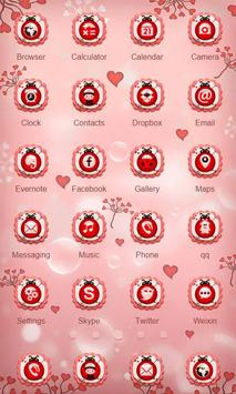 Pink Ladybug Launcher Theme screenshot 1
