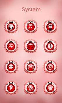 Pink Ladybug Launcher Theme screenshot 2