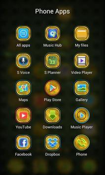 Metal Green Launcher Theme apk screenshot
