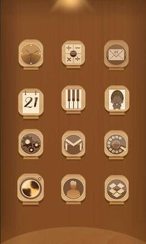 Carved Wood Launcher Theme apk screenshot