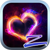 Heart on Fire Launcher Theme icon