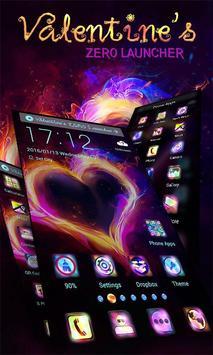 Heart on Fire Launcher Theme apk screenshot