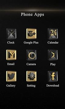 Gold Music Theme-ZERO Launcher apk screenshot