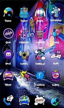 Graffiti Theme - ZERO Launcher apk screenshot