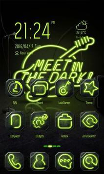 Green Neon Theme-ZERO Launcher poster