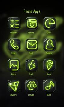 Green Neon Theme-ZERO Launcher apk screenshot