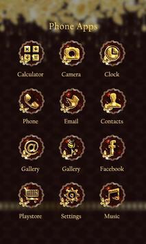 Luxury Gold Theme-ZEROLauncher apk screenshot