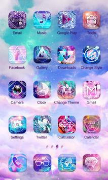 Milky Way Theme -ZERO Launcher apk screenshot