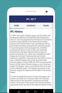 T20 Cricket IPL Schedule 2017 apk screenshot