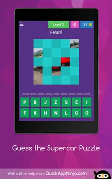 Guess the Supercar Puzzle apk screenshot