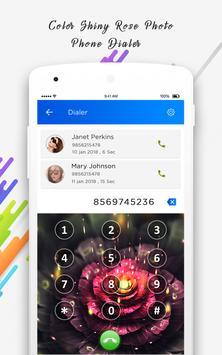 Color Shiny Rose Photo Phone Dialer screenshot 4