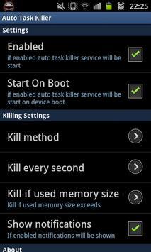 Auto Task Killer screenshot 3