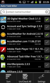 Auto Task Killer screenshot 2